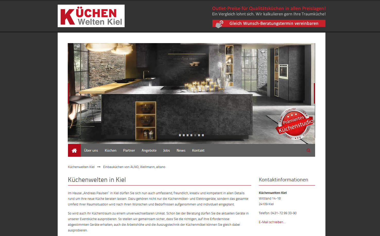 Küchenwelten Hamburg webdesign referenzen handel versicherungen and web pinneberg